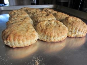 Golden brown biscuits.