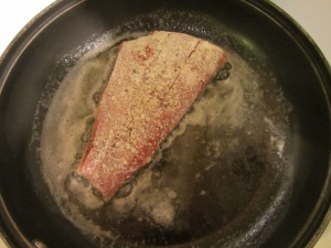 Fish in the pan.