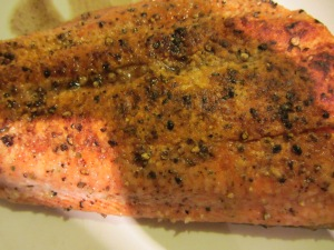 Fish after cooking.