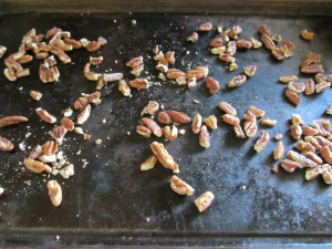 Toasted pecans.