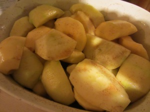Apple mixture, prior to cooking.