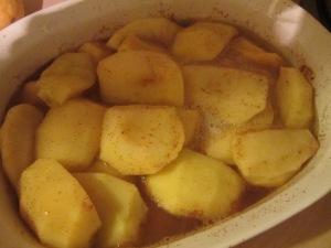 Apple mixture, after baking.