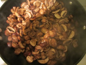 Mushrooms with shallots and Cognac.