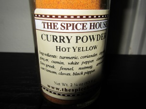 Hot curry powder.