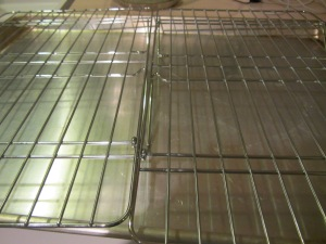 Rack over a sheet pan for draining fried food.