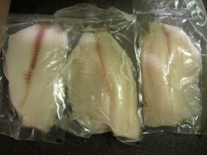 Tilapia fillets.