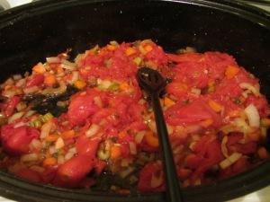 Vegetables after broiling.