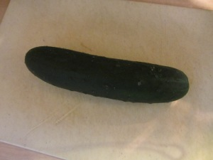 Whole cucumber.