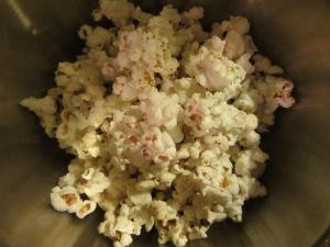 Homemade microwave popcorn.