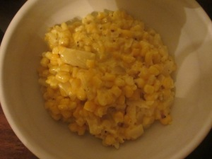 Finished creamed corn.