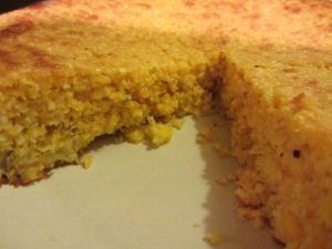 Cornbread with lots of texture.