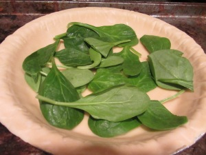 Spinach on the crust.