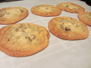 Alton's thin chocolate chip cookie.