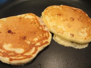 Flipped pancakes.