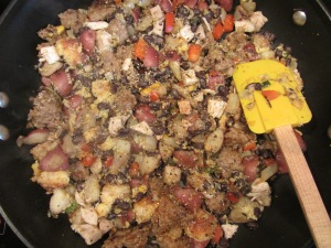 Seasonings added to the hash.