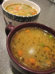 Finished turkey soup.