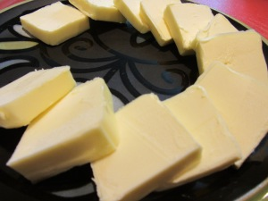 Butter cut into chunks.