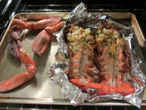 Lobsters added to claws.