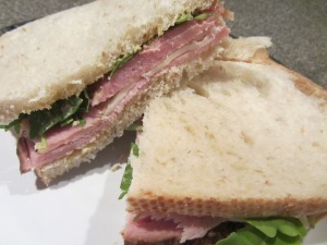 Country ham sandwich.