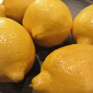 Lemons to flavor simple syrup.