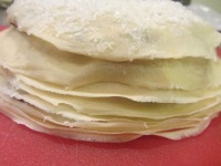 Finished crepe cake.
