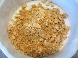 2/3 of graham mixture in prepared pan.
