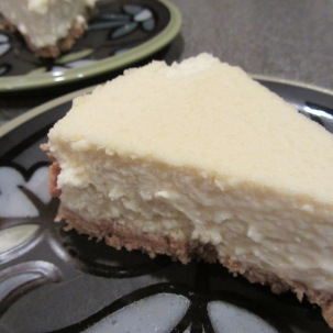 Alton Brown's cheesecake.