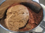 Brown sugar added to sifter.