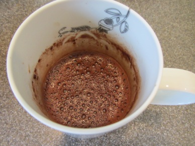 Cocoa mix and water stirred to make a thick slurry.