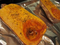 My butternut squash, after roasting.