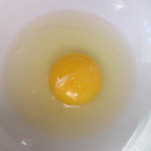 1 egg, to be lightly beaten and tempered.