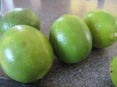 Lots of fresh limes.