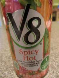 Spicy V8, instead of tomato sauce.
