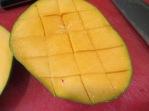 Cubed mango.
