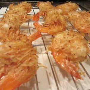 Alton's coconut shrimp.