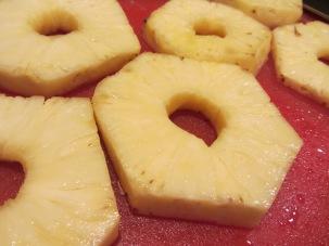 Pineapple slices.
