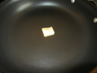 Butter in nonstick skillet.