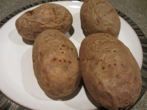 4 baked potatoes.