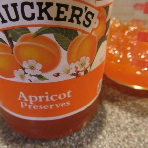 Apricot preserves.