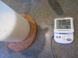 Milk mixture, cooling to 115 degrees before mixing with yogurt.