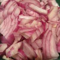1 red onion, chopped.