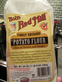 Potato flour, used for second slurry.