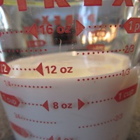 1 1/3 C milk.