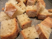 A loaf of good quality bread, cut into cubes.