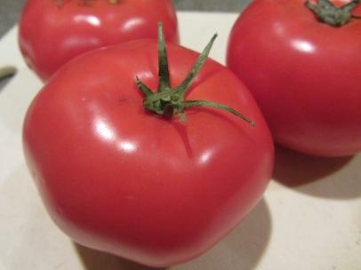 Red globe tomatoes.