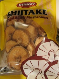 Dried shiitake mushrooms for the filling.