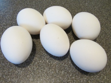 Eggs - need 4 whole and 2 whites.