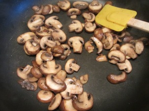 Mushrooms after cooking down.
