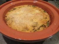 Casserole after baking.