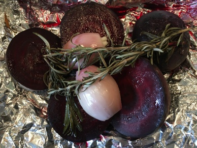 Beets after roasting for 40 minutes.